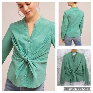 Maeve Katherine Tie Front Top {Anthropologie}